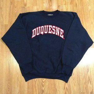 Duquesne University Navy Blue Crewneck Sweatshirt